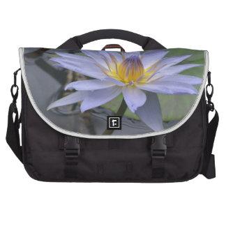 Purple Water Lily Laptop Messenger Bag