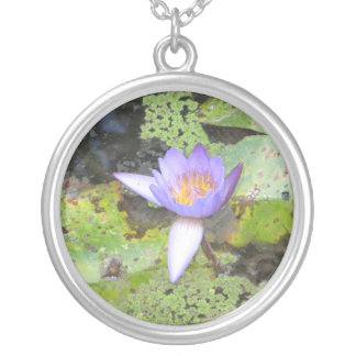 Purple Water Lily Necklace