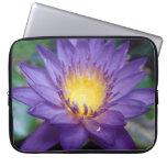 Purple Water Lily Neoprene Laptop Sleeve 15 inch