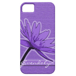 Purple Water Lily Personalized iPhone SE/5/5s Case
