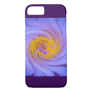 Purple Water Lily Twirl Design iPhone 8/7 Case