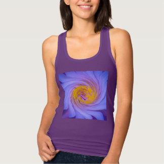 Purple Water Lily Twirl Design Tank Top