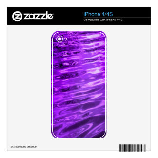 Purple Water Skins For iPhone 4S