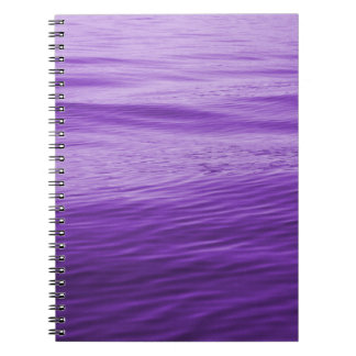 Purple Water Spiral Notebook
