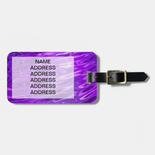 Purple Water Tags For Bags