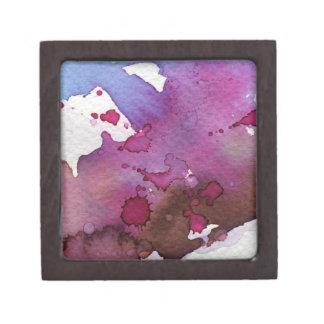 Purple Watercolor Background Gift Box