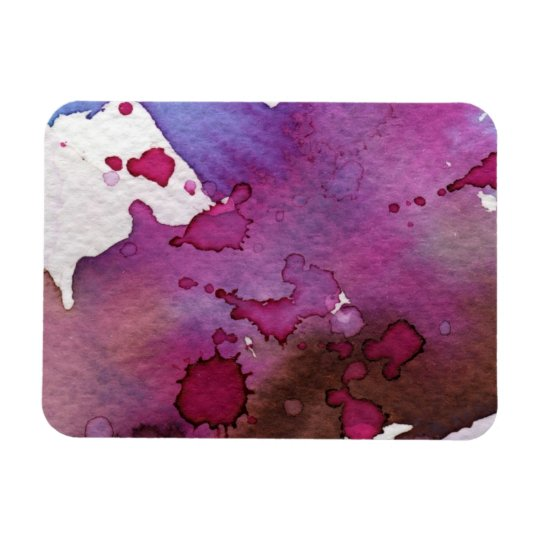 Purple Watercolor Background Magnet