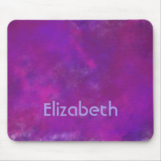 Purple Watercolor Background Personalized Mouse Pad