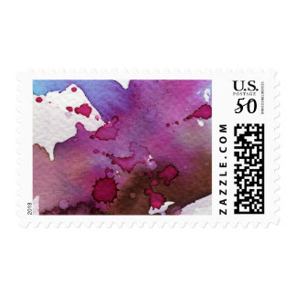 Purple Watercolor Background Postage