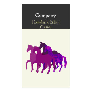 Purple Watercolor Beautiful  Horse  Racing Double-Sided Standard Business Cards (Pack Of 100)