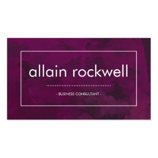 Purple Watercolor Business Card