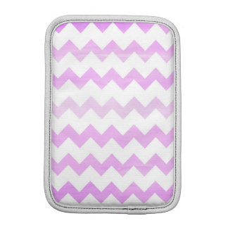 Purple Watercolor Chevron Zigzag Pattern iPad Mini Sleeves