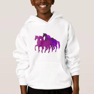 Purple Watercolor Fantasy Horse Modern Custom Hoodie