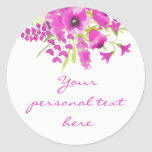 Purple Watercolor Floral Baby Shower Sticker