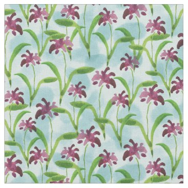 lauriekentdesigns Purple Watercolor Floral Pattern Fabric