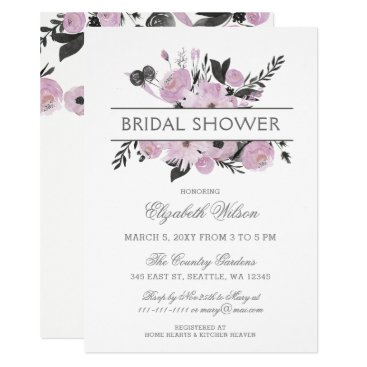 Purple watercolor floral spring bridal shower invitation on www purple watercolor floral spring bridal shower invitation filmwisefo