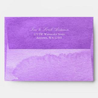 Purple Watercolor Return Address A7 Envelope