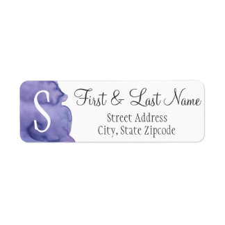 Purple Watercolor Return Address Label