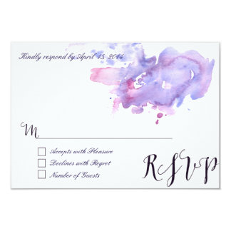 Purple watercolor RSVP Cards II