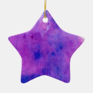 Purple watercolor splotch ceramic ornament