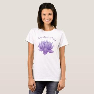 Purple Watercolor Succulent Apparel T-Shirt