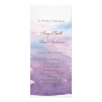 Purple watercolor wedding program