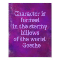 Purple Watercolor with Quote   Poster
