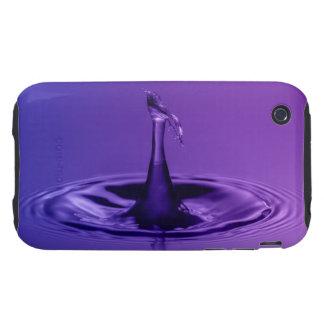 Purple Waterdrop Tough iPhone 3 Cases