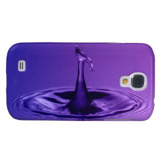 Purple Waterdrop Galaxy S4 Case