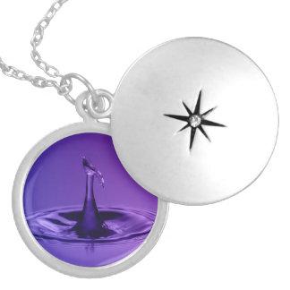 Purple Waterdrop Locket Necklace