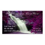 Purple Waterfall Business Card