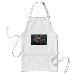 Purple Waterlilies Lotus Adult Apron