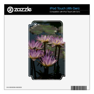 Purple Waterlilies Lotus iPod Touch 4G Decal