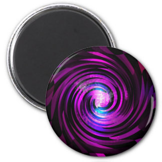 Purple Wave Abstraact Art 2 Inch Round Magnet