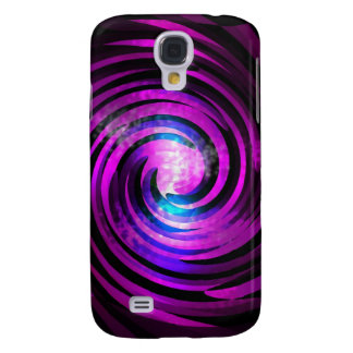 Purple Wave Abstraact Art Samsung Galaxy S4 Case