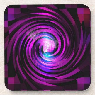 Purple Wave Abstraact Art Coaster