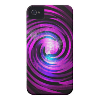 Purple Wave Abstraact Art iPhone 4 Case