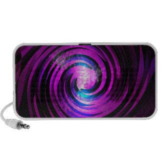 Purple Wave Abstraact Art Travel Speaker
