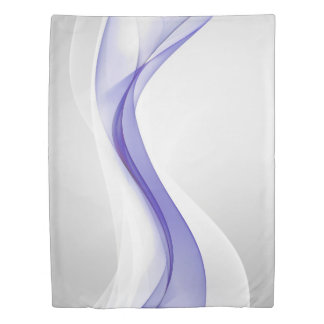 Purple Wave Abstract (1 side) Twin Duvet Cover