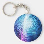 Purple Wave Baby Tiger.jpg Keychain