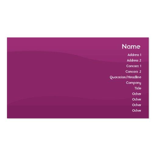 Purple Wave - Business Business Card