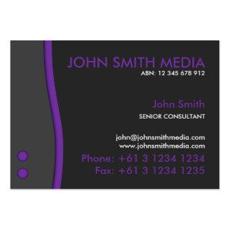 Purple Wave Business Card (Dark)