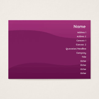 Purple Wave - Chubby Business Card