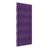 purple wave pattern abstract canvas print