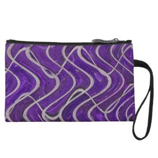 purple wave pattern wristlets