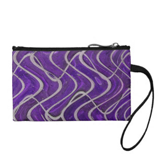 purple wave pattern coin purse