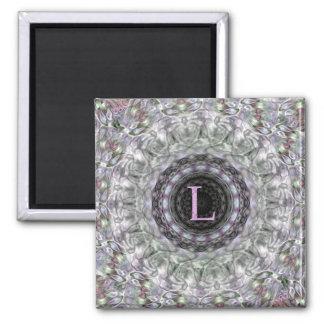 Purple Wave Star Monogram L Magnet