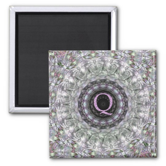 Purple Wave Star Monogram Q Magnet