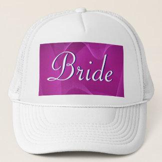 Purple Waves Bouquet Bride Trucker Hat