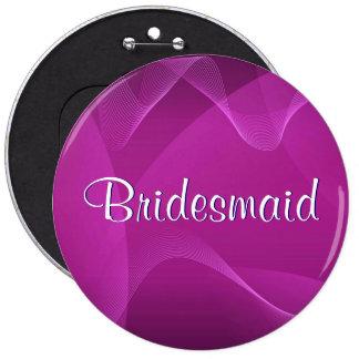 Purple Waves Bridesmaid Button